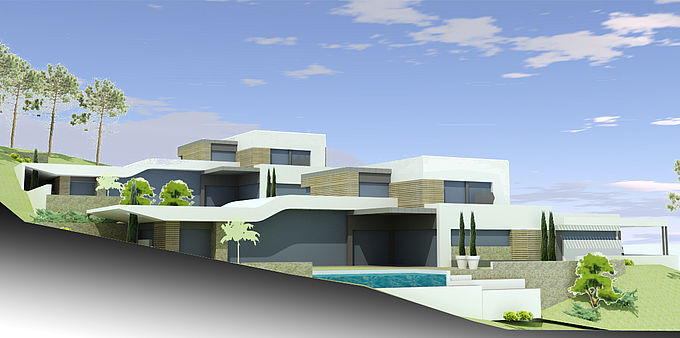 janik architecte 2 maisons individuelles la tronche. Black Bedroom Furniture Sets. Home Design Ideas