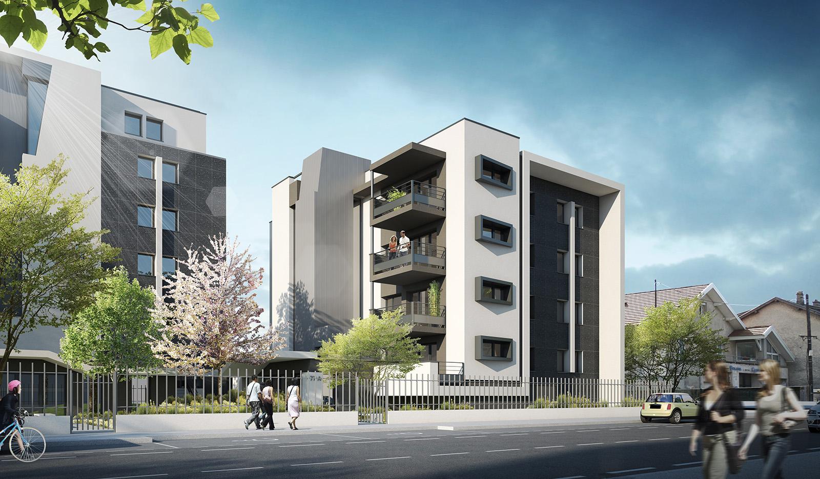 Janik architecte l 39 embellie 28 logements for Architecte grenoble maison individuelle