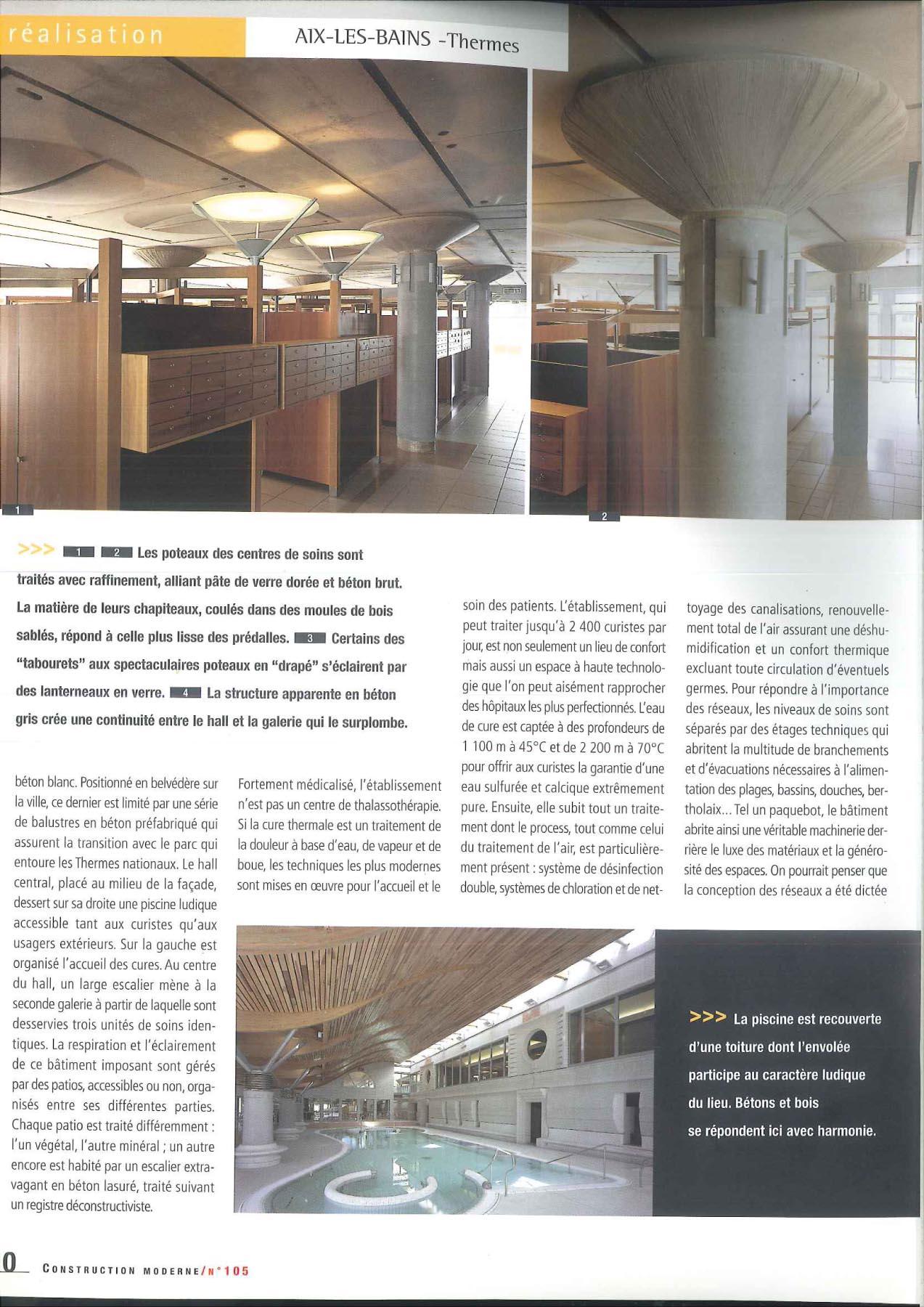janik architecte thermes aix les bains. Black Bedroom Furniture Sets. Home Design Ideas